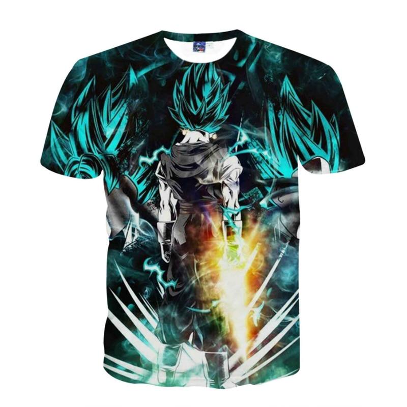 Dragon Ball Z Son Goku Men Summer T-shirt Super Saiyan Monkey King Kakarotto Short Sleeve T shirts Fashion Tops Tees Plus Size