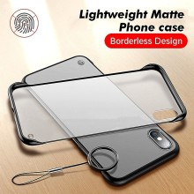 Ultra-thin Borderless Phone Cases For iPhone X Case XS Max XR 7 8 6 6S Plus Frosted transparent Clear Back Matte acrylic Cover