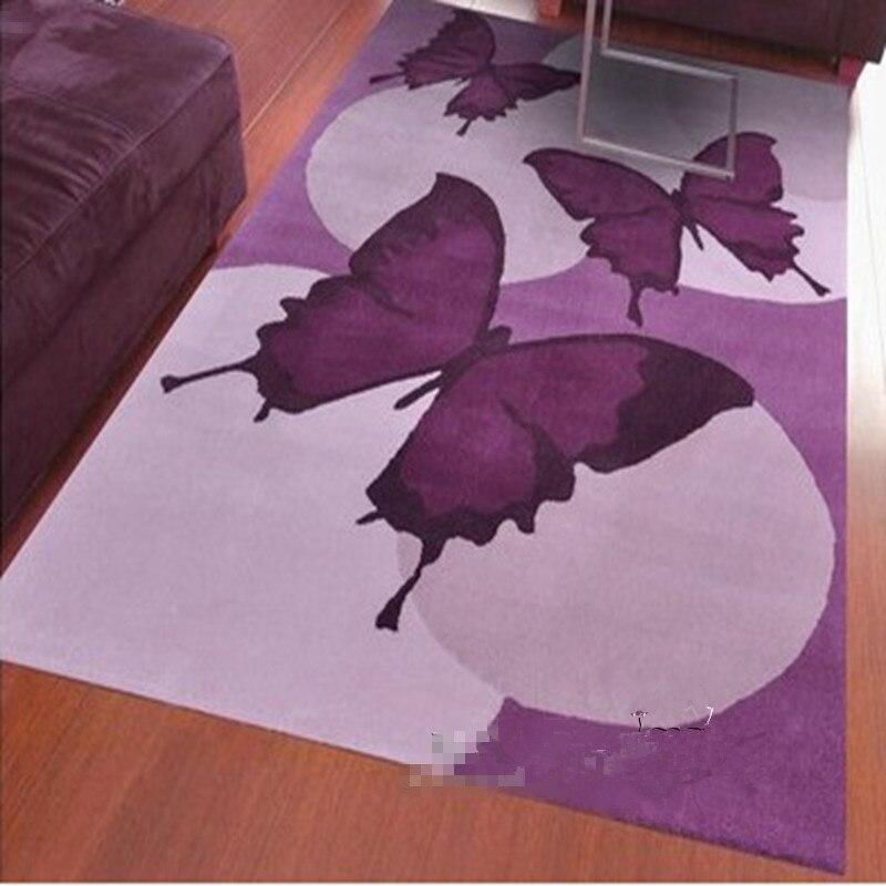 € 39.17 5% de réduction|Nouveaux tapis et tapis acryliques faits main  papillon violet pour tapis de salon à la maison-in Tapis from Maison & ...
