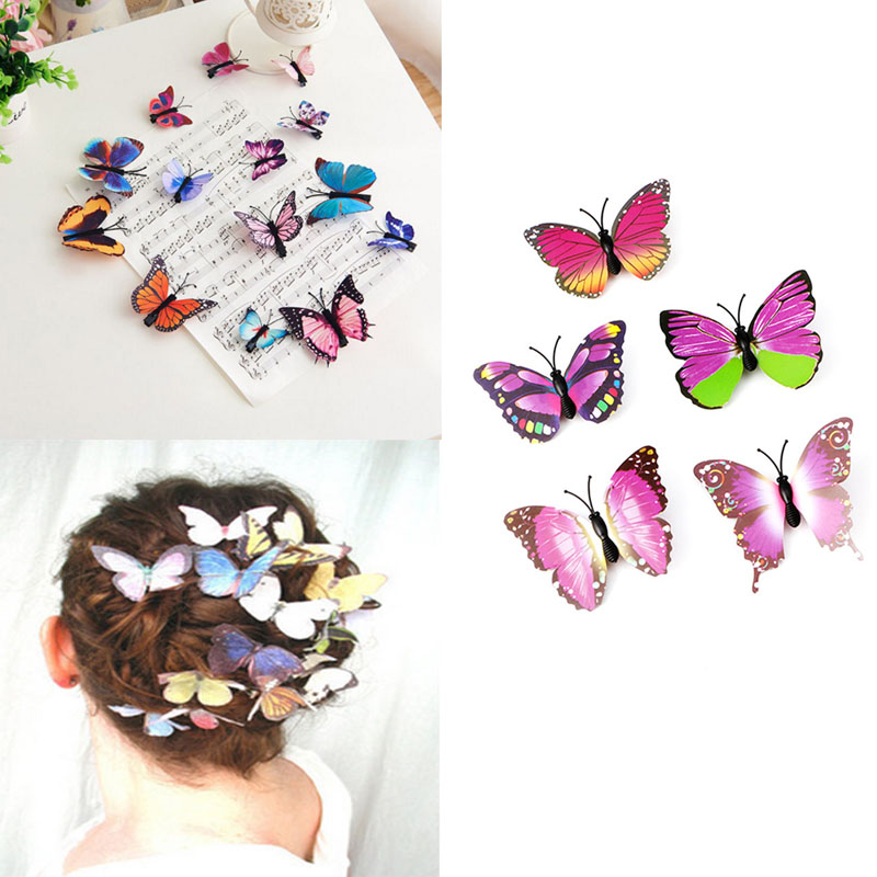 5pcs Butterfly Flower Hair Clip Hair Claw Clamp Party Bridal Hair Pins For Party Wedding Girl's Accessories