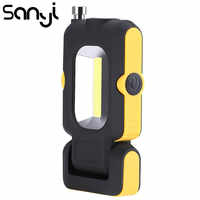 SANYI-linterna portátil de 3 modos, lámpara LED COB para tienda de campaña, para coche de caza, reparación al aire libre
