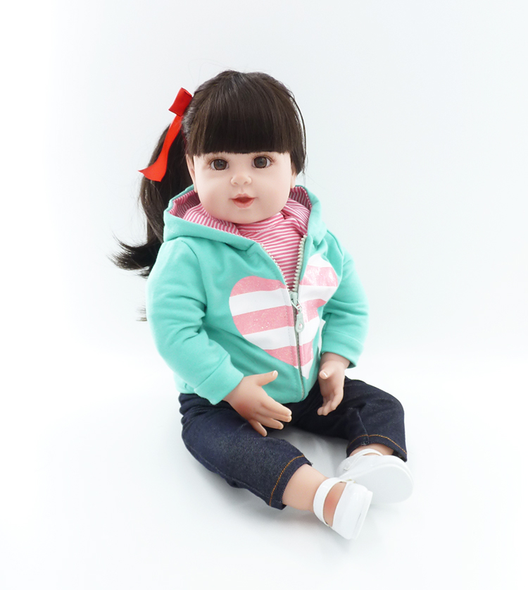 50cm Silicone Reborn Baby Toddler Doll Toys Lifelike Vinyl Princess Dolls Birthday Gift Play House Toy Girls Brinquedos silicone vinyl reborn toddler doll toys for girl 55cm lifelike princess doll play house toy birthday christmas gift brinquedods