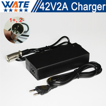 42V 2A Charger 10S 36V Li-ion electric bike battery 36V Lithium Battery Charger Input 100-240V Free shipping
