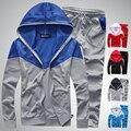 Mens Hoodies And Sweatshirts Plaid Tracksuit Men Slim Fit Sweatshirt Men Hoodies Men 2017 M-5XL Sudaderas Hombre BA06