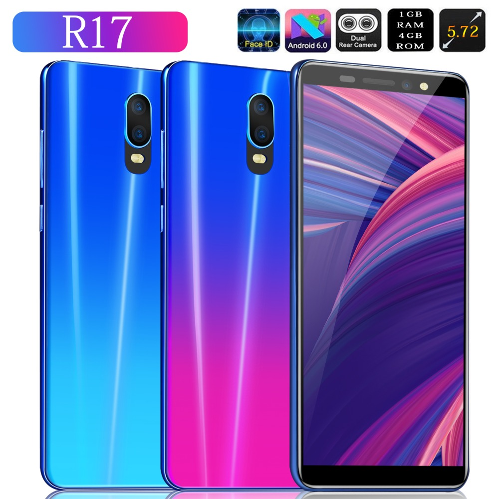 Cheapest 3G WCDMA Smart Phone R17 MTK6580 Android 6 0 1GB 8GB Dual Sim Mobile Phone