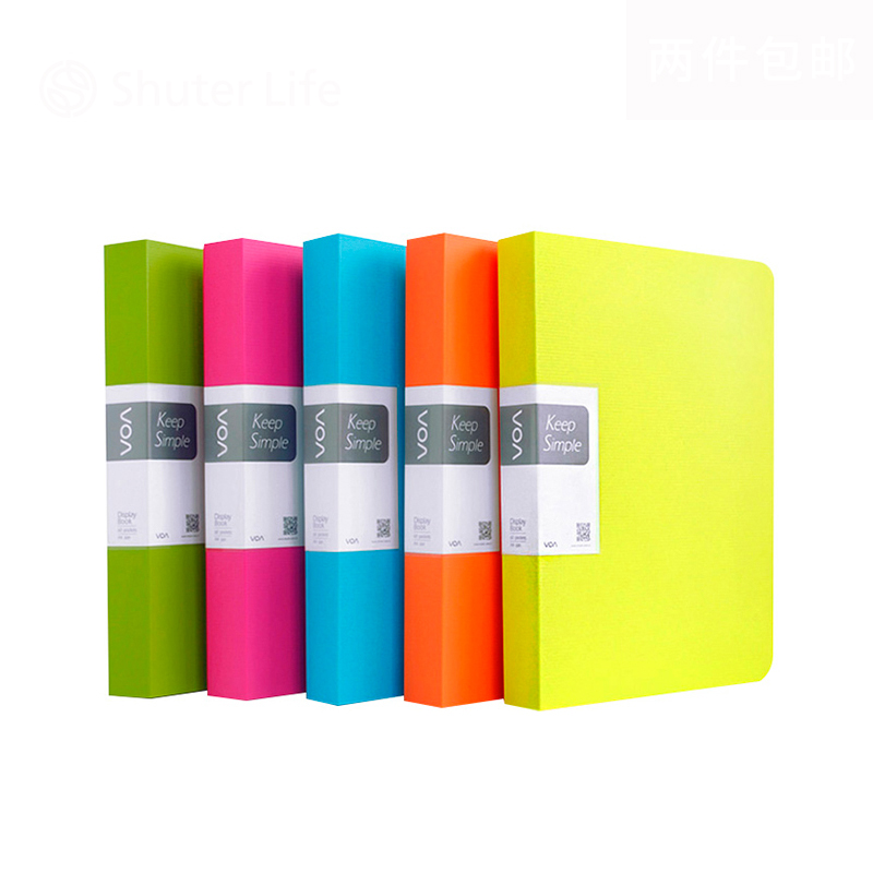 Colorful Cover Presentation Folder Waterproof PP File Folder Document Filing Bag Student Office Business Use A4 Paper Folder vividcraft business book a4 paper file folder bag office stationery design waterproof document folder rectangle office supplies