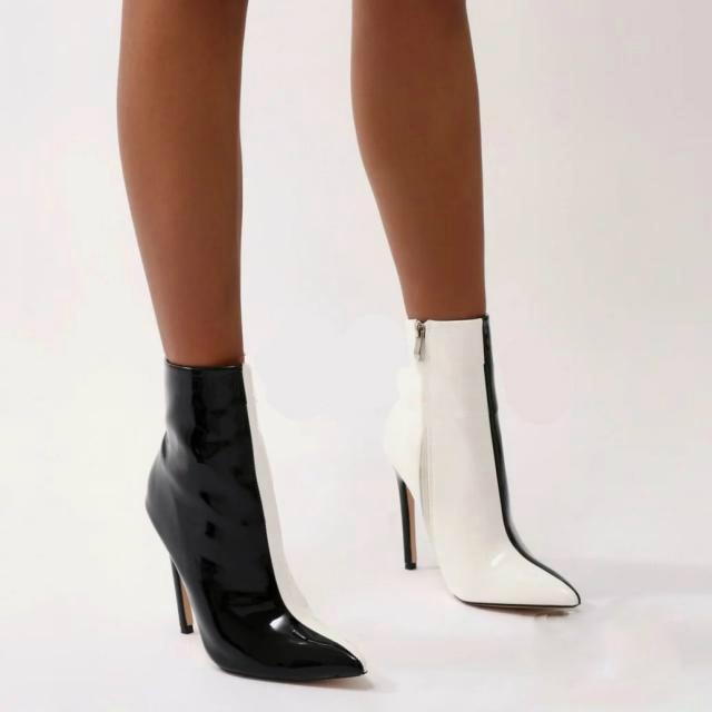 Cm Cheville Bottes Taille Femme Printemps Mode Bout 12 Glissière Aiguilles Pink À 2018 47 black Arden 48 Chaussures Pointu Talons Furtado Automne Hauts Grande Z60U0q