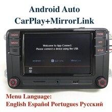 """Android の自動 MIB 6.5 """"カーラジオ Noname RCD330 6RD035187B CarPlay アプリ Vw ティグアンゴルフ 5 6 ジェッタ MK5 MK6 パサートポロトゥーラン"""