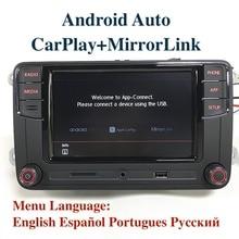 "Android auto mib 6.5 ""rádio do carro noname rcd330 6rd035187b carplay app para vw tiguan golf 5 6 jetta mk5 mk6 passat polo touran"