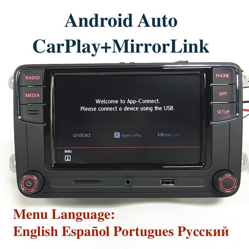 Bodenla Android Auto MIB автомобиля Радио rcd330 плюс rcd330g CarPlay приложение для VW Tiguan Гольф 5 6 Jetta MK5 MK6 passat Мужские поло Touran
