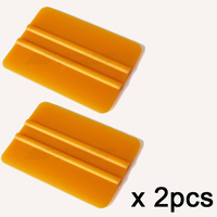 2pcs gold smooth 10*7.3cm professional ice scraper car stickers squeegee wholesale car care window tint tools high quality 2A01G