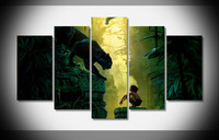 8213 the jungle book 2017 movie poster Framed Gallery wrap art print home wall decor wall picture Already to hung digital print
