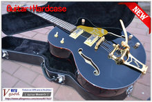 New! Black Eagle Hollow Body 6120, Bigsby tremolo system, F-Hole JAZZ electric guitar With hard case free shipping