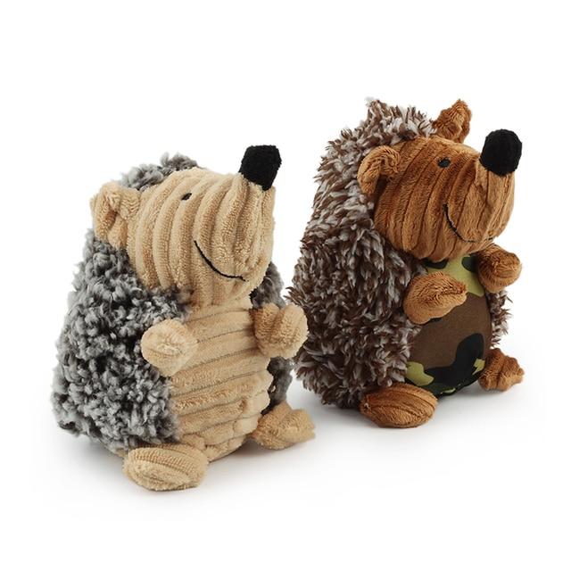 Sheep Hedgehog Forma Cão Squeak Som Brinquedo Interativo Brinquedos de Pelúcia Cães Para Jogar Pet Engraçado Formação