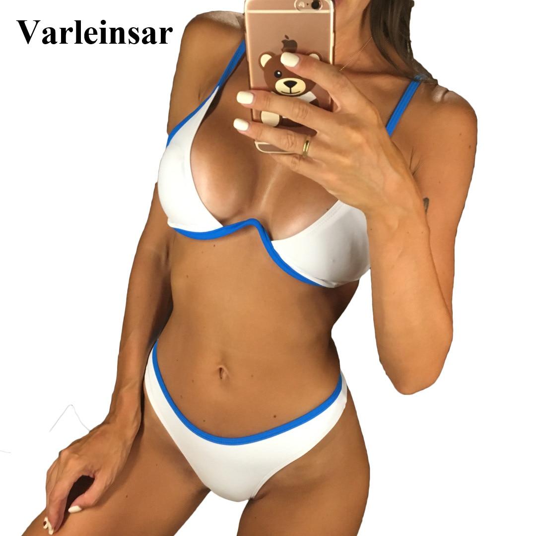 e9465746d5 Detail Feedback Questions about New Sexy V bar Underwired Bikini 2019  Female Swimsuit Women Swimwear Two piece V shape Wire Bikini set Bather Bathing  Suit ...