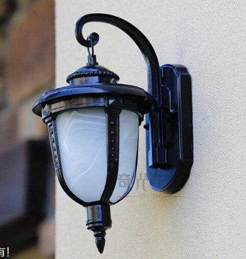 Европейский светодиодный настенный светильник  наружное настенное бра  освещение  водонепроницаемый садовый настенный светильник  светил... title=
