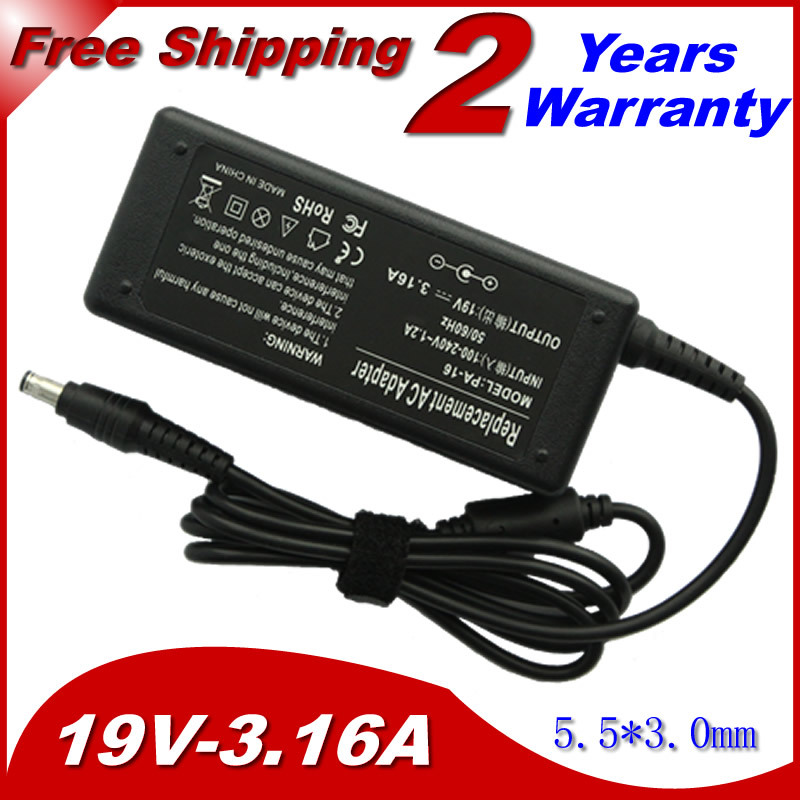 19V 3.16A 5.5*3.0mm Power AC Adapter Supply for Samsung AD-6019R AD-6019 CPA09-004A ADP-60ZH D PA-1600-66 ADP-60ZH A charger цена