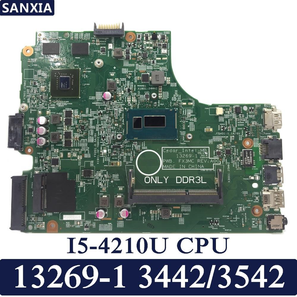 KEFU 13269-1 Laptop motherboard for DELL 3542 3442 3543 3443 Test original mainboard I5-4210U цена