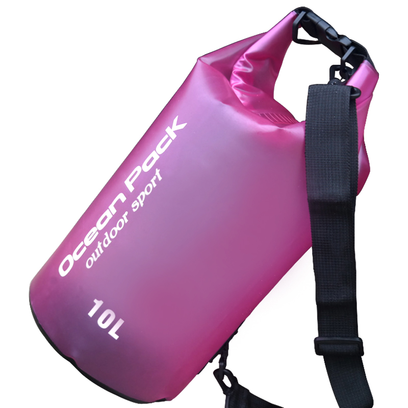10L Swimming Bags Waterproof Translucent Dry Bag Bucket Sack Storage Bag Rafting Outdoor Sports Kayaking Canoeing Travel Barrel