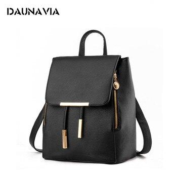 7a8edda163a1 Women Backpack High Quality PU Leather Mochila Escolar School Bags For Teenagers  Girls Top-handle