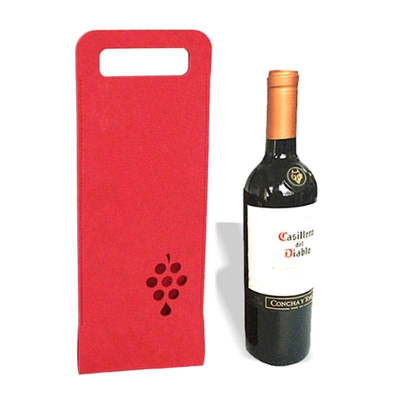 Portable Non-woven Fabrics Champagne Red Wine Bottle Bag Carrier Packing Festival Party Gift Pouch Package