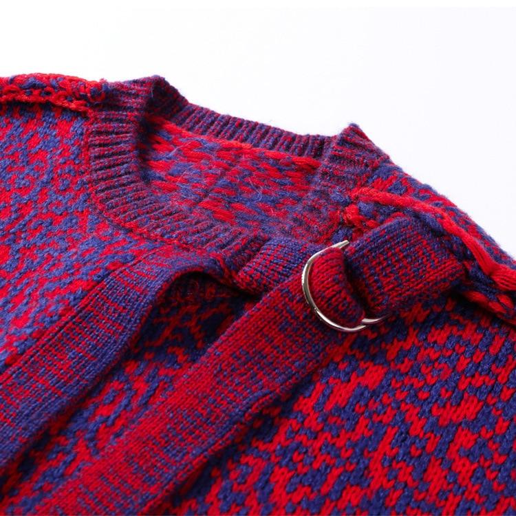 À Couleur Avec Chandail Pourpre Poches Femmes Nouveau Cardigans Qualité Lâche La Contraste Veste Rouge Tricoté Top 2019 Mode wERA7qw
