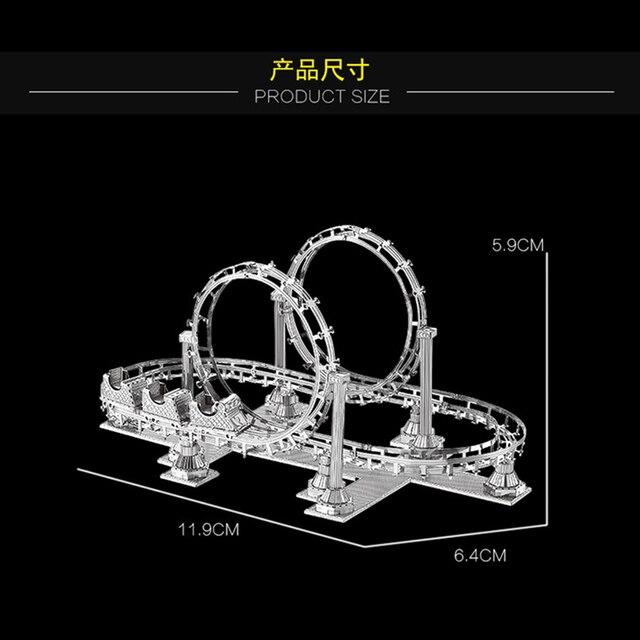 4 pièces ensemble HK Nan yuan 3D métal Puzzle aire de jeux équipement de construction bricolage Laser découpé Puzzles Puzzle modèle jouets pour adultes enfants cadeau
