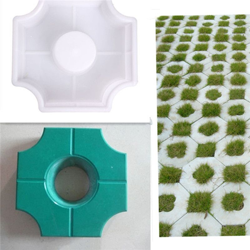 DIY Path Maker Middle Of Hole SHape Garden Path Concrete Plastic Brick Mold Paving Pavement Walkway Molds