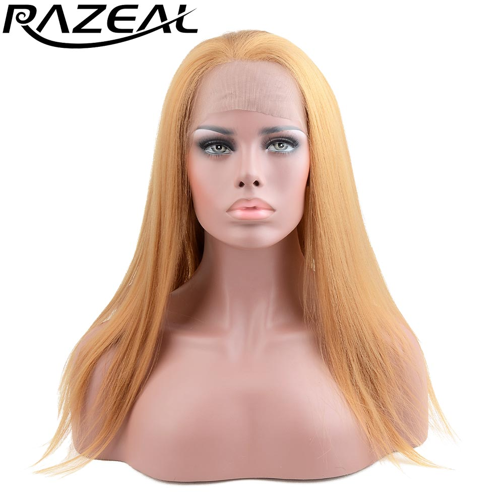 Long Natural Straight Synthetic Lace Front Wig Glueless Auburn Razeal High Temperature Heat Resistant Fiber Hair Women Wigs ...