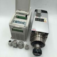380V Air cooled 4.5KW CNC Spindle Motor ER32 18000rpm + 5.5KW 380V VFD Inverter Spindle Motor Speed Controller for CNC Router