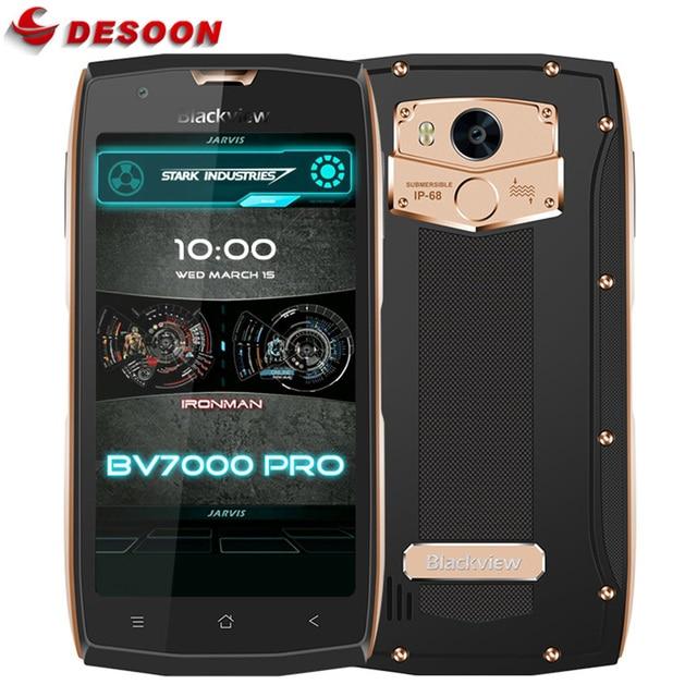 Blackview BV7000 Pro 4G Mobile Phone Waterproof IP68 MT6750T Octa Core Android 6.0/7.0 4GB+64GB 13MP Fingerprint Smartphone