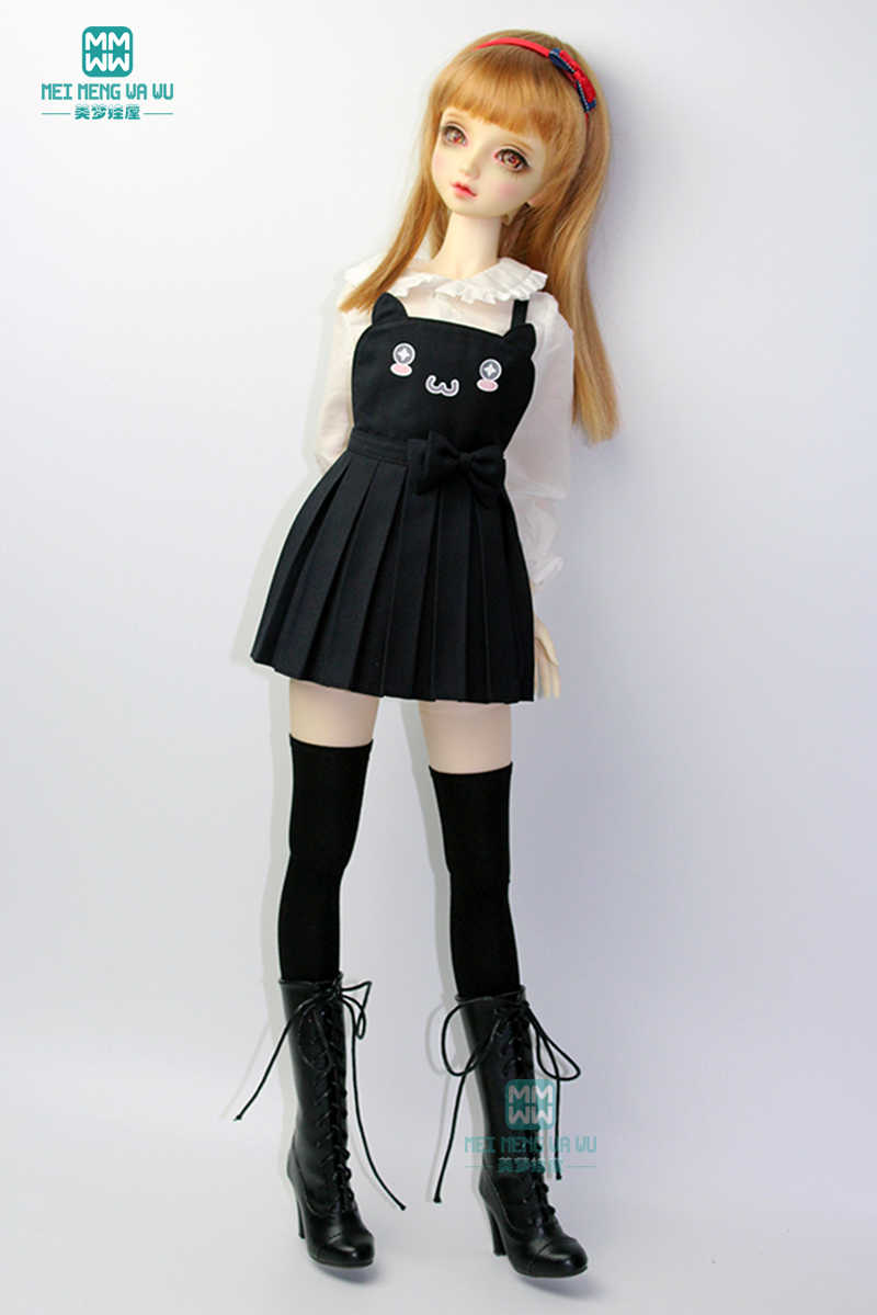 BJDตุ๊กตาเสื้อผ้าเหมาะกับ 60 ซม.1/3 BJDตุ๊กตาแฟชั่นชุดเสื้อสีขาว + กระโปรง + ถุงน่อง