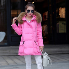 Winter Coat Women Loose Plus Size Wadded Jackets Female Casual Down Cotton Wadded Coat Women Parkas Long Coat C1122