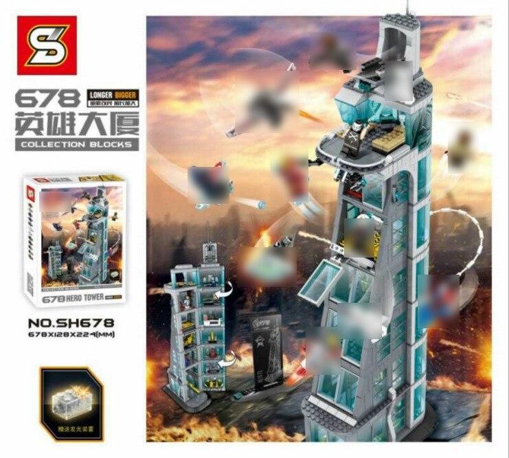 In Stock 07101 Super Genuine Hero Iron Man Anti Hulk Mech Toy Marvel Avengers Infinity War