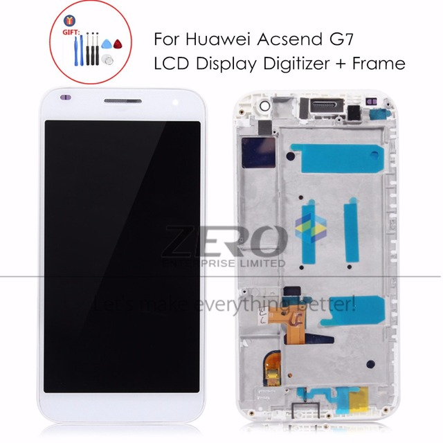 Para Huawei Ascend G7 pantalla LCD Marcos panel de pantalla táctil ...