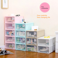 Storage cabinet, plastic storage box, transparent wardrobe storage box, clothes sorting box