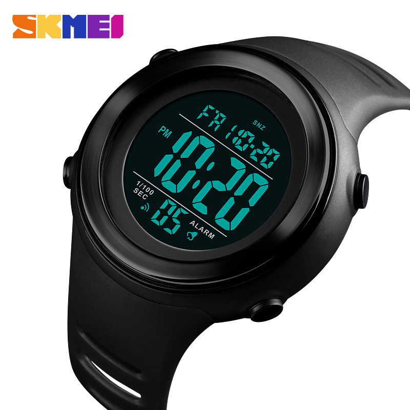 SKMEI Fashion Simple Sport Watch Men Alarm Clock LED Display 5Bar Waterproof Backlight Digital Watch Relogio Masculino 1394
