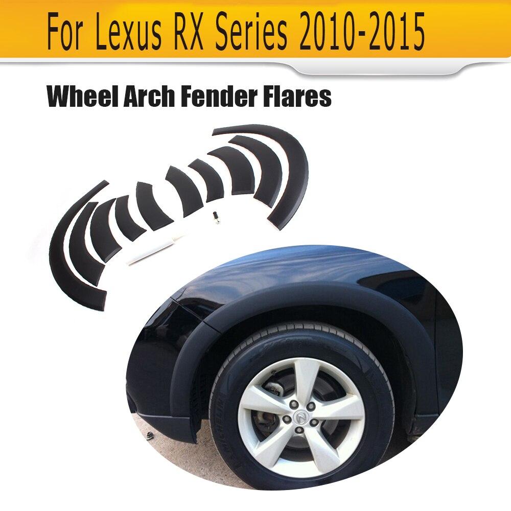 PP колеса автомобиля арки бровей полосой Fender планки для Lexus RX 270 300 330 350