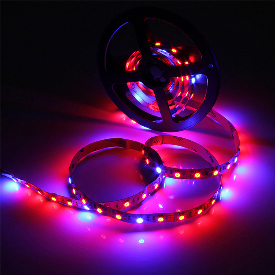 LED Impianto Luce 1 M 2 M 3 M 4 M 5 M DC12V SMD 5050 Flessibile LED Grow Light Strip per Acquario Serra Idroponica Vegetale Vegetale