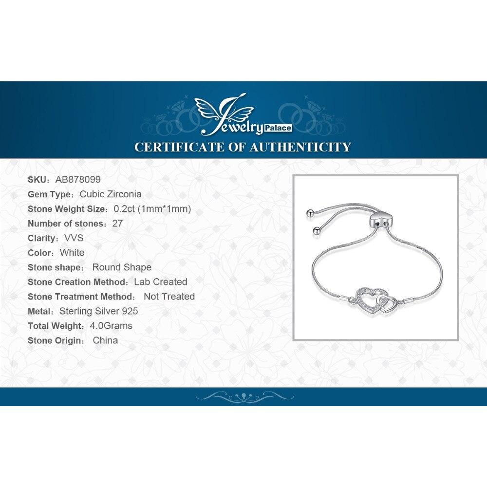 Image 5 - Two Heart Bracelet 925 Sterling Silver Bracelet Snake Chain Bolo Bracelets For Women Silver 925 Jewelry Making OrganizerBracelets & Bangles   -