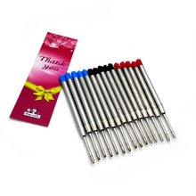 Wholesale spy pen refill 10pcs black blue ink and red For Tactical REFILLS 3 colors