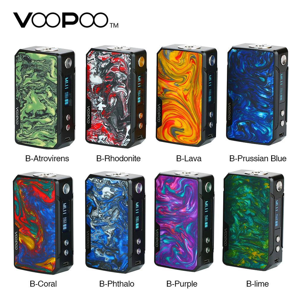 100% Original 117 W VOOPOO glisser Mini MOD avec 4400 mAh batterie et innover gène. FIT puce E-cigarette Vape boîte Mod VS glisser 2 Vaping