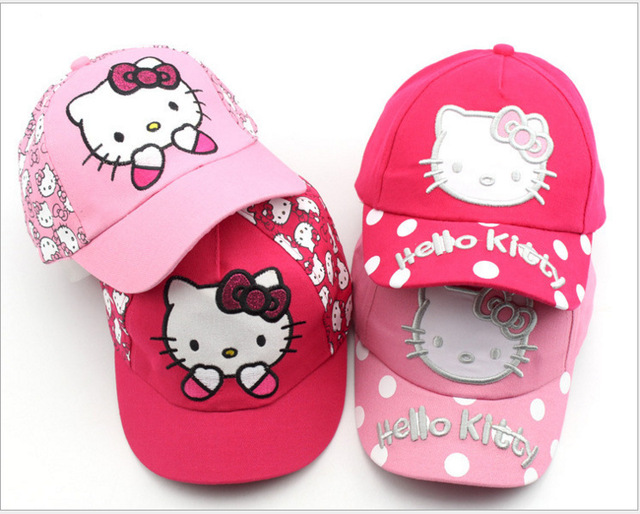 6b60b7e49 US $5.38 |100%cotton Cartoon Hello Kitty Children Caps Sport Baseball Caps  Sun Snapback Hats Unisex Boys Girls Cap Adjustable Hat-in Hats & Caps from  ...