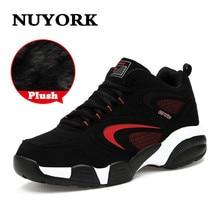 Nuyork 2018 new shoes men Fashion shoes for men winter men flats shoes Outdoor Cow Muscle Trend Of men Cotton shoes luxury Coupl