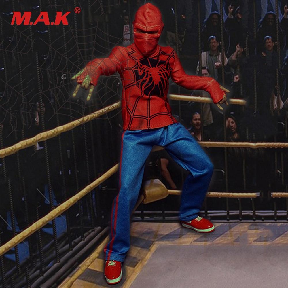 1/6 Spiderman Masque & Arène de Combat Costume Masculin Vêtements Chaussures pour 12 pouces Figurines