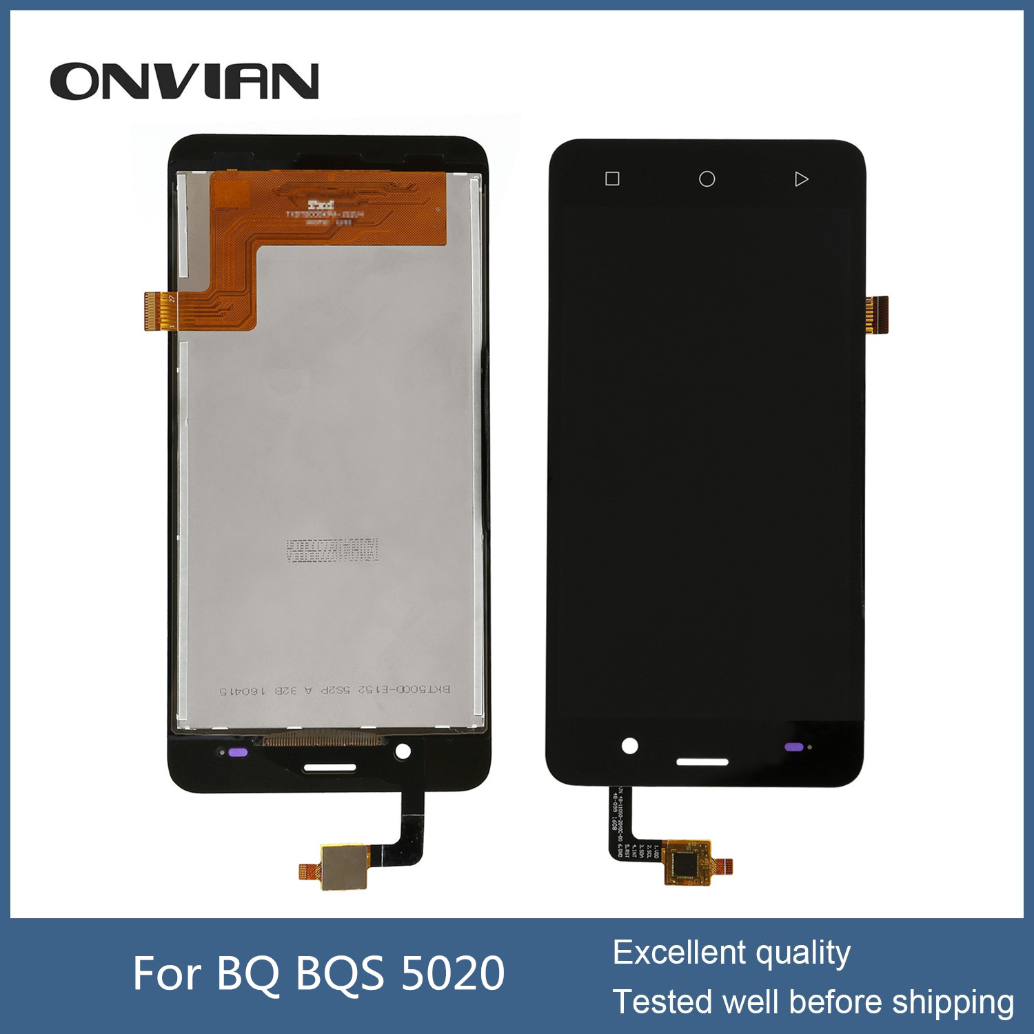 BQ BQS 5020 lcd display dititizer with Capacitive Touch screen Digitizer front glass replacement for BQS-5020 module
