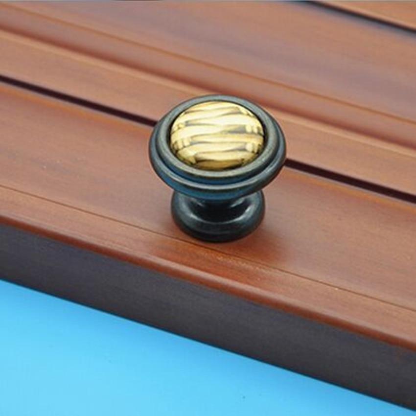 rustico vintage furniture knobs creative ceramic drawer cabinet knobs antique bronze dresser cupboard door pulls handles