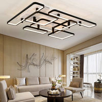 NEO Gleam Rectangle LED Ceiling Chandelier For Living Study Room Square Modern Led Ceiling Chandelier Lamp