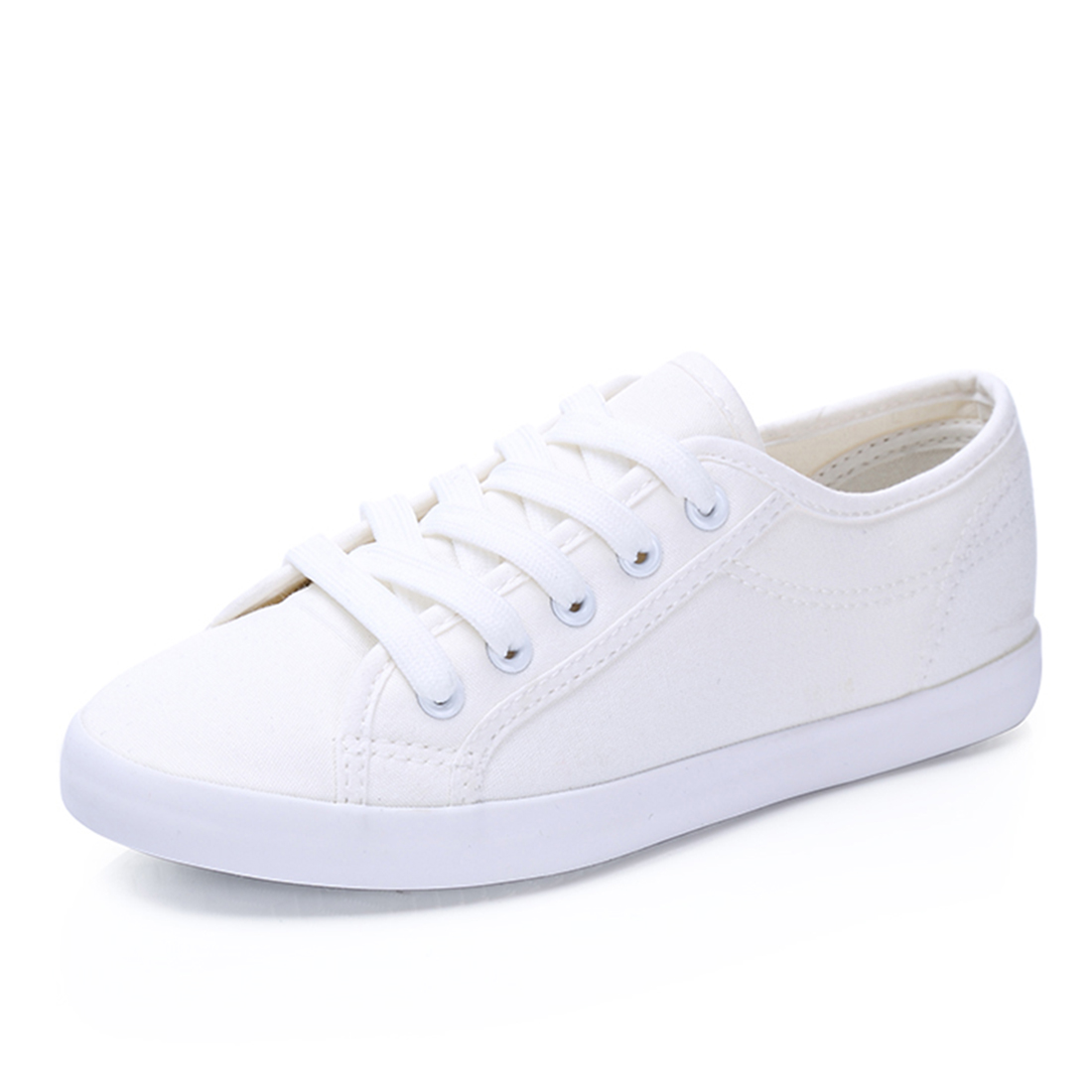 2017 women canvas shoes female white shoes low breathable women solid color flat shoes casual shoe