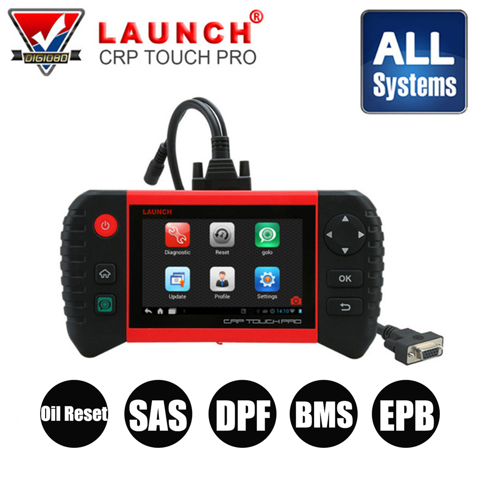 LAUNCH CRP Touch Pro OBD2 Diagnostic Scan Tool All System Code Reader Scanner with Oil Reset EPB DPF BMS SAS Special Functions все цены